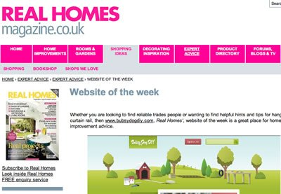 Bubsy Dog DIY in Real Homes Magazine